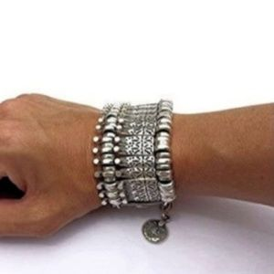 NWT Thick Boho Silver Statement Bracelet